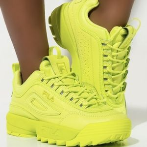 FILA Lime Green Disruptor Sneakers Shoes 5
